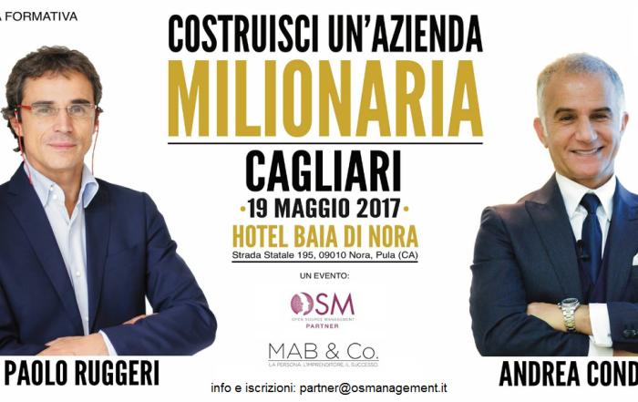 Costruisci un'azienda milionaria | 19 maggio, Cagliari
